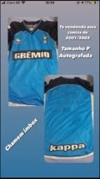 Camisa do Grêmio treino 2001/2002 AUTOGRAFADA PELOS JOGADORES