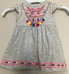 Vestido Infantil Cinza Chicco Tam 3 Meses
