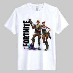 Camiseta camisa infantil e adulto - fortnite,minecraft,roblox, five nigths at freddys