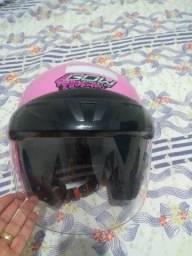 Vendo capacete feminino 58