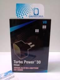 Título do anúncio: Carregador Motorola V8 Usb Turbo Rápido Power novo (Entrega Grátis)