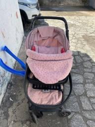Carrinho de bebê  e BB conforto