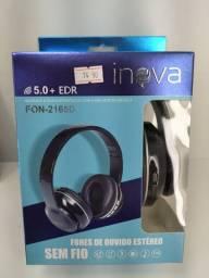 Fone de Ouvido Bluetooth com Radio FM e leitor de Cartao de memoria