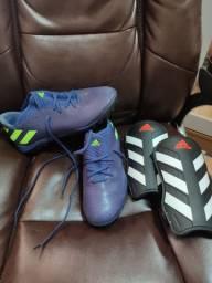 Chuteira Society Adidas Nemeziz Messi 19.3 TF  + caneleira Adidas
