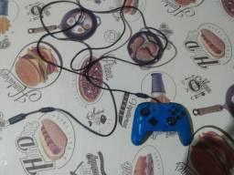 Controle para Nintendo/Pc/Celular com fio face off deluxe azul pdp