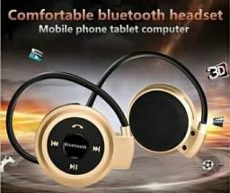 Fone Via Bluetooth Wireless Suport Cartão Sd Radio Fm