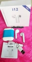 Fone i12 Bluetooth Fone Sem Fio Wireless Ipods i12 Tws