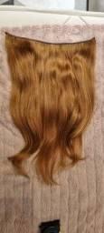 Título do anúncio: Mega hair na tela ruivo natural - cabelo humano