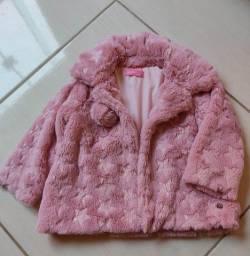 Título do anúncio: Casaco infantil rosa de luxo