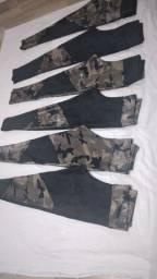 Calças  legs ,tops,shorts  em suplex