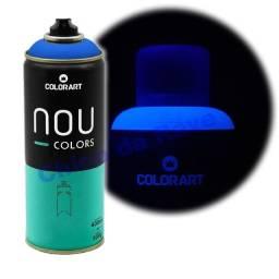 Tinta spray azul fluorescente Nou Colors (azul luminoso)