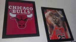 Quadro Chicago Bulls e Michael Jordan