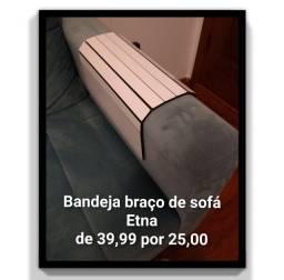 Bandeja de sofá Etna branca