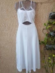 Macacão pantacourt branco