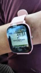 Smartwatch P8 sensação do momento! Troca foto papel de parede! Nota 10 em custo benefício!
