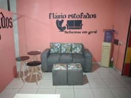 Sofa 3 lugares  + 2 Puff