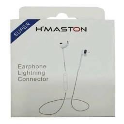 Título do anúncio: Kit 5 fone de ouvido hmaston branco bluetooth e microfone