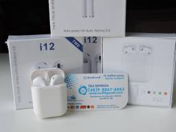 Título do anúncio: Fone sem fio iphone Bluetooth i12 androide NOVO (entrega grátis)