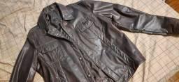 Jaqueta em couro sintético tamanho G