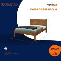Título do anúncio: Cama Casal Paola (Entrega Rápida/Frete Grátis)