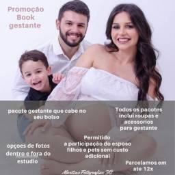 Título do anúncio: Promoção book gestante permitido fotos com esposo e filhos fornecemos figurino