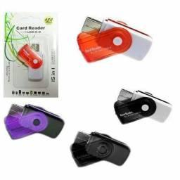 Pendrive case Para cartão de memória 15 in 1 leitor de cartão de memória! !!