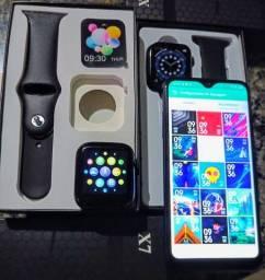 Nova Smartwatch X7 Faz e recebe ligações | Wallpaper personalizável