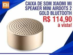 Título do anúncio: Caixa De Som Xiaomi Mi Speaker Mini Airdots 2 Gold Bluetooth Nova Lacrada