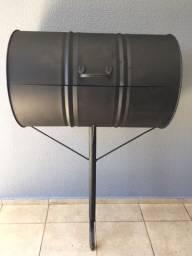 Lixeira tambor para calçadas