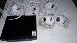 Intelbras hdcvi 1008 + 5 cameras zedec