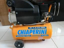 12x sem Juros. Motocompressor 24 Litros 2HP CHIAPERINI