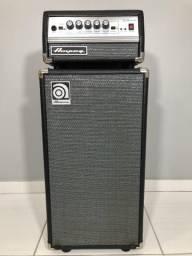 Set Ampeg SVT Micro VR 200w + caixa 210