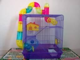 Gaiola para Hamster 3 Andares com Tubos