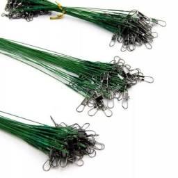 KIT 72 Castor para Pesca Encastoado Inoxidável Snap 15cm 23cm 30cm