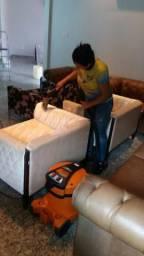 Lavagem seco em cama, sofá, poltronas, cadeiras