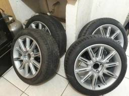 Rodas aro 17 pneus novos vw