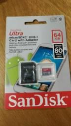 Cartão memória 64GB Sandisk classe 10