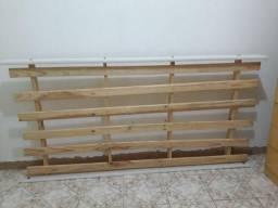 Cama beliche com cama auxiliar + 2 colchões
