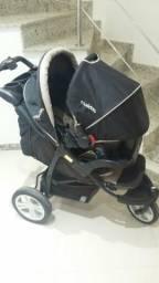 Carrinho de bebê Fox Race 46 Kiddo na cor: preto, modelo de 3 rodas