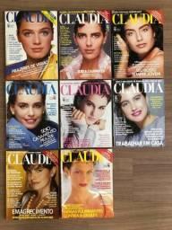 Lote Com 08 Edições Da Revista Claudia, Ano De 1987