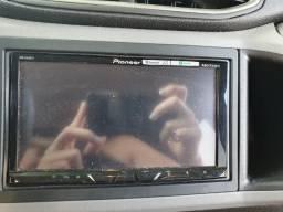 Multimídia pioneer avh z5080 tv com controle remoto + câmera de ré