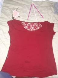 Blusa vermelha 5reais