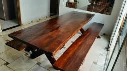 Mesa de Madeira Rustica 3 mt