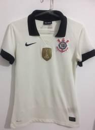 29c1800de1 Camiseta original Corinthians feminina 2013 símbolo mundial
