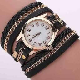 04af49c6c59 Relógios Feminino Pulseira Em Couro