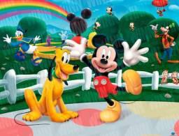 Painel de Festa Infantil Personagens Ladybug Mickey Moana