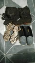 Kit de calçados por 50 reais