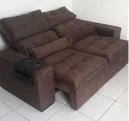 Sofá Novo Retrátil e Reclinável C/ Pillow - Direto de Fábrica