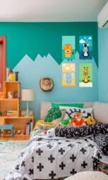Kit Placas Decorativas Mdf 30x20 Safari Quarto Infantil 4 Pç