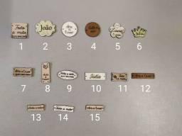 Etiquetas personalizadas em couro legítimo